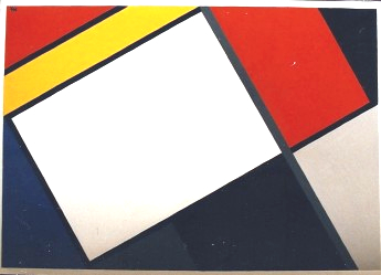344 - Tribute to P. Mondriaan - N.Hoogenboom Jr. [60x40]